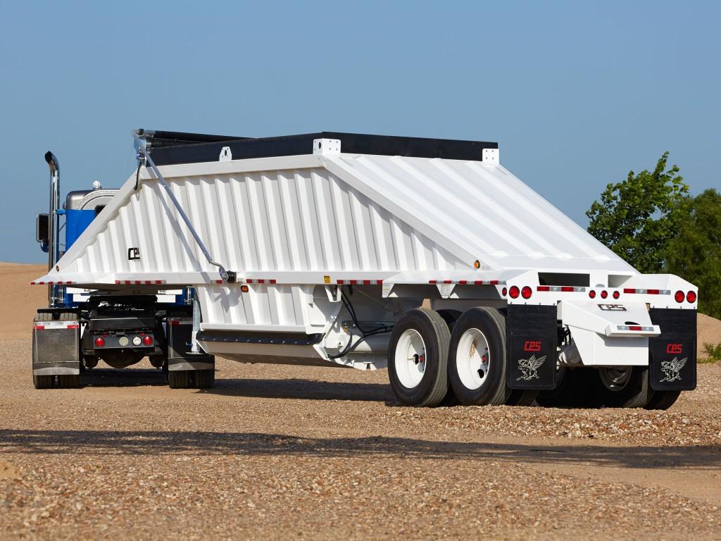 Bottom dump trailer on